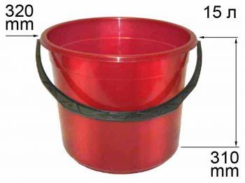 Ведро пласт. 15л №2  пищевое