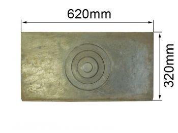 Плита  одноконфорная 320х620мм КБ