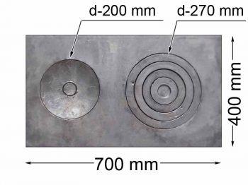 Плита с конфорками ПД-3 400х700 КБ