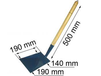 Совок большой метал 190х190 дер. ручка Т-к