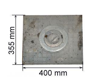 Плита  одноконфорная 400х355мм рифл. К (А)
