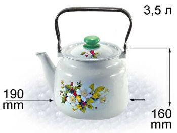 Чайник 3,5л с рис. В2713/3  Нов