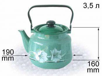 Чайник эм. 3,5л с рис. В2713/4 Нов
