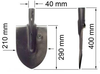 Лопата  ЛКО (копальная остроконечная) К