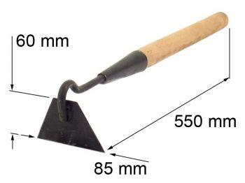 Мотыжка 80 мм плоская с черенком