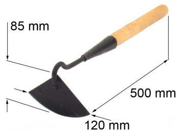Мотыжка 120мм полукруглая с черенком