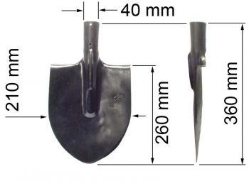 Лопата  ЛКМ (копальная малая) К
