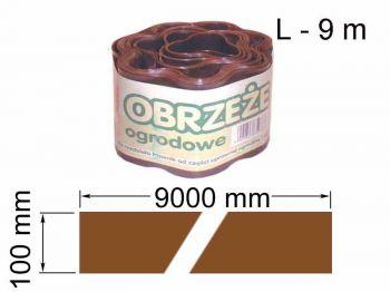 Лента газонная (поребрик)10см х 9м BRAZ