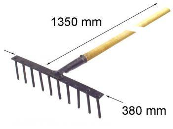 Граблі штирьові (металеві) 10-ти зуб з держаком