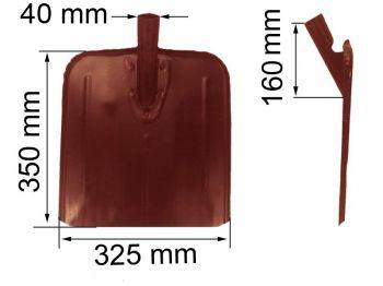 Лопата  универсальная (325х350мм) (снег, зерно)