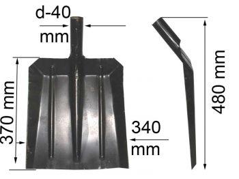 Лопата универсальная (снег, зерно) (340х370)