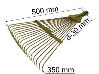 Грабли веерные провол. рег. 18 зубів 200-460мм Т