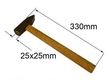 Молоток 0,4кг с квадр. бойком и ручкой