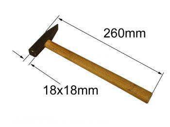 Молоток 0,2 кг з квадр. бійком і д/ручкою Україна ІД