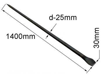 Лом строительный круглый L=1.4 м