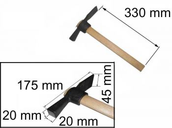 Молоток-кирочка МКИ 0,5кг с ручкой