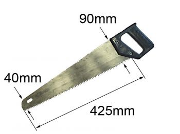 Ножівка столярна L425 *90*40 мм Україна ІД