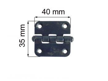 Петля ПН 1-40 мм черная