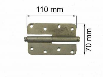 Петля ПН 1-110 оцинк левая