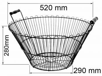 Корзина металлическая крашенная (М)