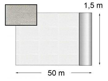 Сітка від комарів сіра 1,5х50м В-9Г42КД полотно гард. Преміум