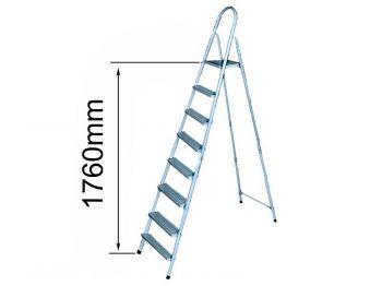 Лестница-стремянка метал.  (7ступ+1) 1,76м Т